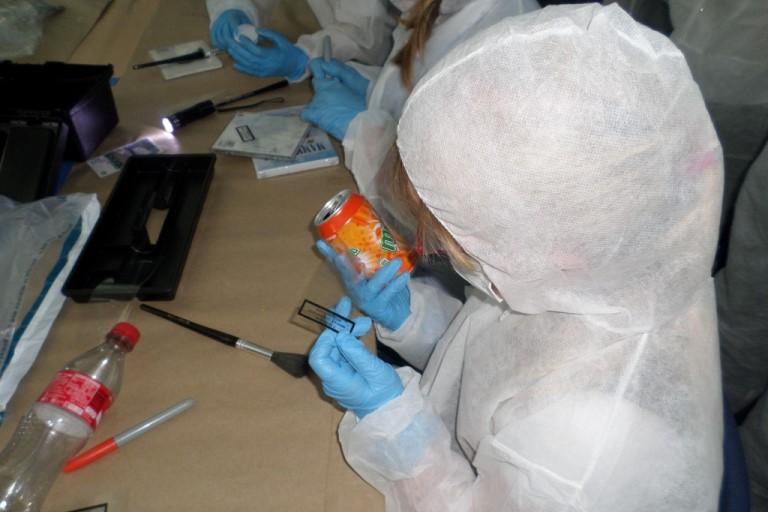 CSI Training and Events - CSI Educational Workshops - Children fingerprinting at a School Event, fingerprint frenzy
