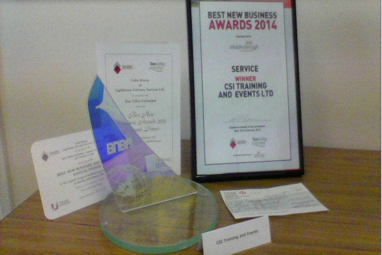 CSI Training and Events - Best New Business Award, services award
