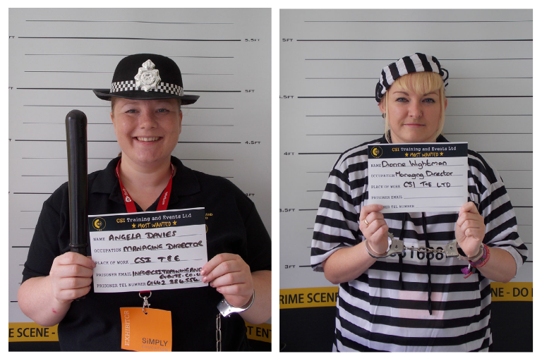 CSI Training and Events - Directors Angela and Dionne mugshots at an event