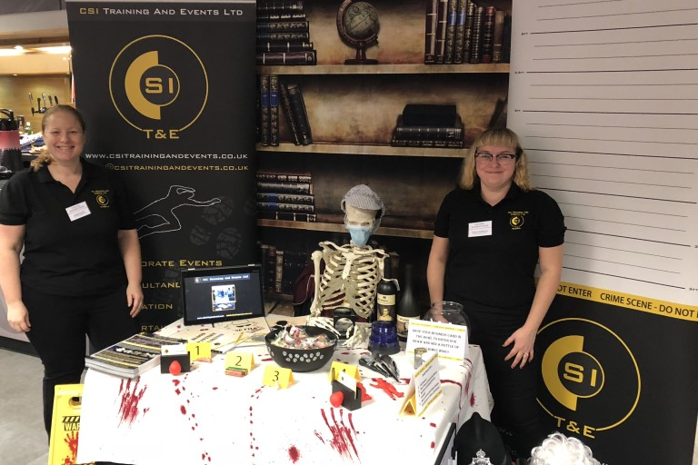CSI Training and Events - Directors Angela and Dionne Exhibiting at a business event