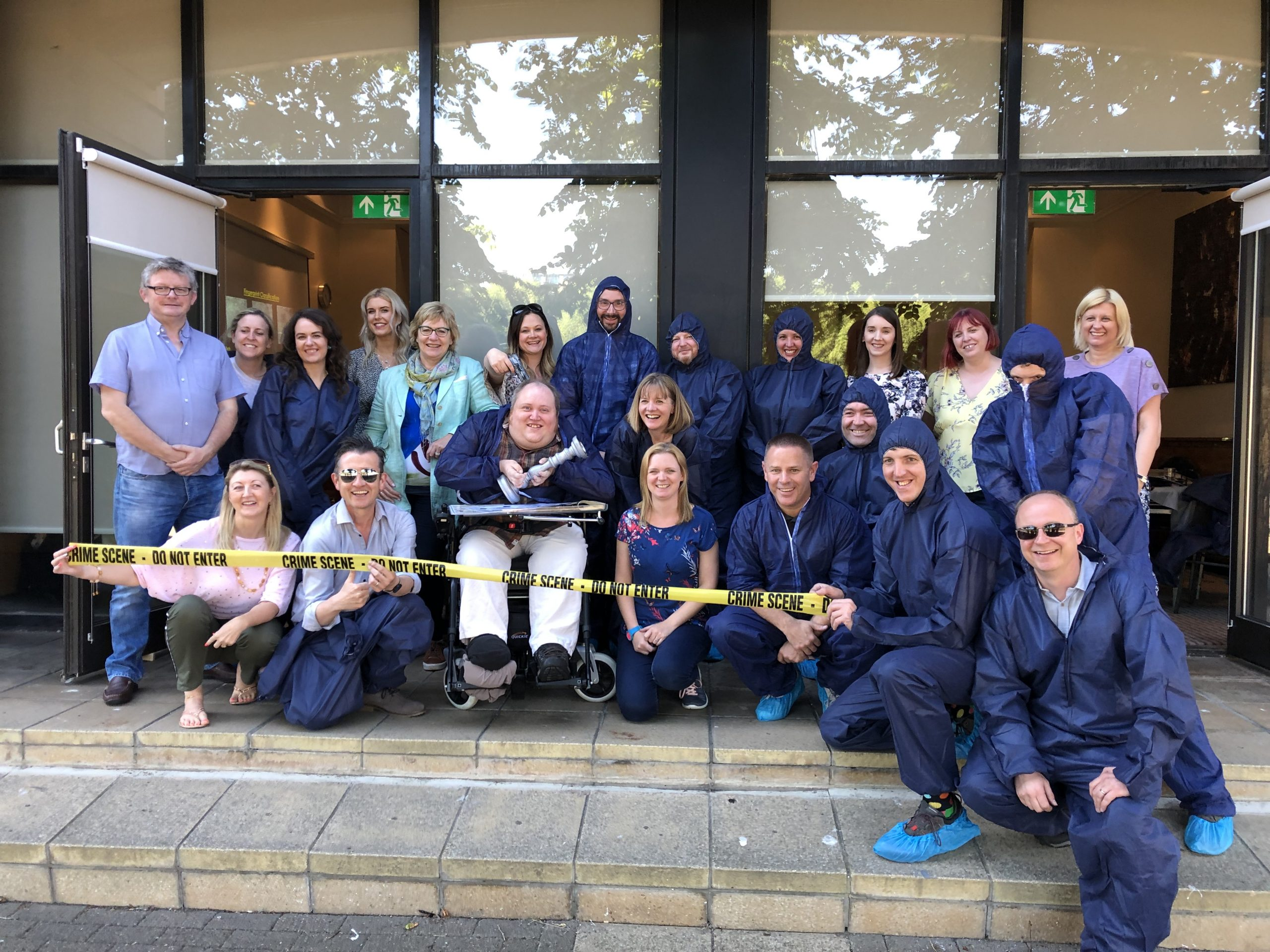 CSI Training and Events - ITV Signpost Team photo at a CSI Team building event