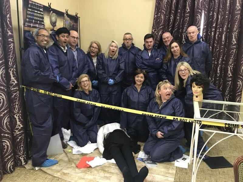 CSI Training and Events - silly team photo at a CSI Team building event
